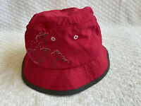 Outdoor Research Womens M Solaris Sun Bucket Hat Raspberry UPF 50+ Polytail Hole
