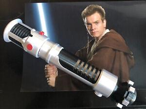 1:1 Scale - 3D Printed Obi Wan Phantom Menace etc Lightsaber Hilt Cosplay Prop