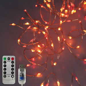 Sunset Fairy Lights. Red, Orange, Yellow String Lights for Christmas Decorations