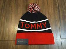 NEW Tommy Hilfiger Sky Captain Men's Pom Pom Beanie Hat Navy White Red