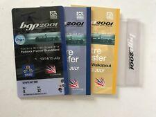 Silverstone Grand Prix Tickets 2001.