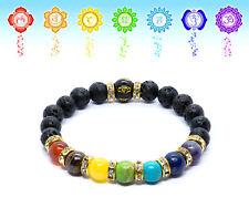 7 Chakra Bracelet. Healing Beads Jewellery. Natural Reiki Crystal Healing gift