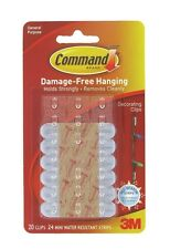 COMMAND 17026-H Outdoor Reusable Clips-Decorations/Christmas/Lights.Pk 20-Clear