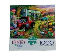 Country Life Quilt Farm 1000 Piece Jigsaw Puzzle Buffalo Games Red Truck Quilt