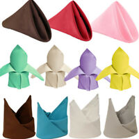 """20"""" Polyester Napkins Wedding Party Table Linens Top Decoration Dinner Supply"""