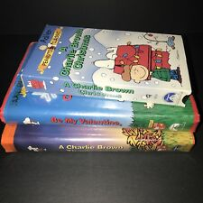 LOT 3 Charlie Brown Holiday VHS Christmas Valentine Thanksgiving Video Peanuts