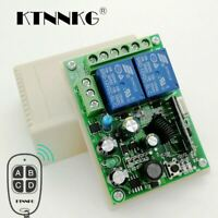 433Mhz AC 250V 110V 220V 2CH Relay Controller Mhz 433 RF for Switch Control