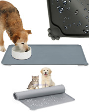 More details for pet puppy silicone waterproof feeding food mat dog cat non slip bowl placemat uk