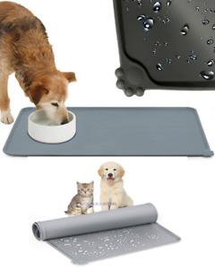 Pet Puppy Silicone Waterproof Feeding Food Mat Dog Cat Non Slip Bowl Placemat UK