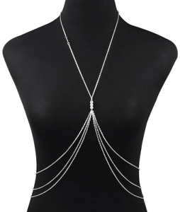 Faux Pearl Decor Body Chain