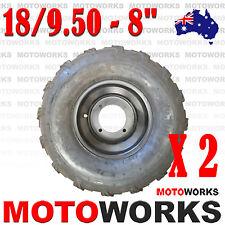"""2 x 18 x 9.50 - 8"""" inch Rear Back Wheel Rim Tyre 250cc Quad Dirt Bike ATV Buggy"""