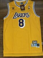 Kobe Bryant #8 Gold Los Angeles Lakers Swingman Jersey Size 48 XL  - NWT