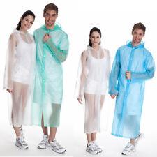 Waterproof Jacket Clear PVC Raincoat Rain Coat Hooded Poncho For Women Men New