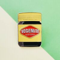 PIN VEGEMITE Limited Australian Pin Enamel Large lapel Pin Gift Aussie Foods