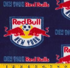 Fleece MLS New York Red Bulls Soccer Fleece Fabric Print by the Yard s8716sf