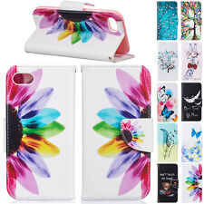 Shockproof Leather Stand Card Pocket Colorful Case Cover For Apple iPhone Phones