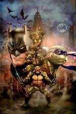 DAVE WILKINS - BATMAN & TMNT SIGNATURE EDITION ULTRA HD ART PRINT 16x20