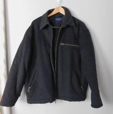 Men's Black Wool Blend Daniel Cremieux Coat Size L