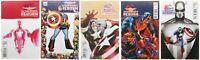 Captain America Reborn 1 2 3 5 6 Variant Lot of 5 Marvel Comics Ross 70th Frame