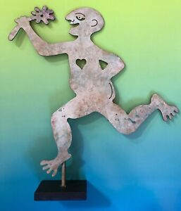Whimsical Metal Sculpture Male Nude By Judie Bomberger Garden Art