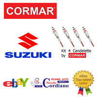 KIT 4 CANDELETTE SUZUKI SX4 1.9 DDIS DA ANNO 2006 CORMAR