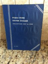 Peace Type Silver Dollar Collection 1921-1935 Blue Whitman Folder #9028.