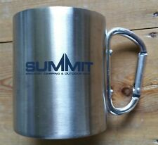 Summit Stainless Steel Silver Metal Specialist Camping Mug with Carabiner Handle