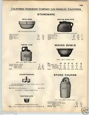 1932 PAPER AD Douglass Stonewear Earthenware Butter Churn Water Jar Water Jug ++