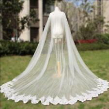Cathedral Length Wedding Cape Cloak Lace Long Bridal Accessories