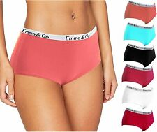 6 Pack Girls Ladies Underwear Mid Rise Cotton Briefs Basic Comfortable Knickers