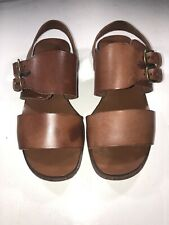 Coach Brown Leather Sandals 5.5 Womens Strappy