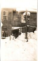 Vintage  Photo Abandoned old house  mid century