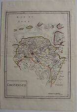 CARTE: GRONINGUE (HOLLANDE). Le Rouge. Carte originale de 1748. Dimensions de la