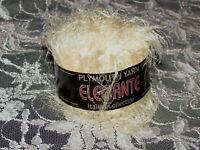 NEW PLYMOUTH YARN ELEGANTE Cream White Eyelash Yarn 50 g Nylon Made in Italy