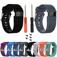 Small Replacement Silicone Band Strap Wristband Bracelet For Fitbit Charge HR CA