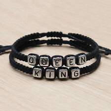 Coppia bracciali fatti a mano King And Queen His Hers Charm Bracelet BangleWQI
