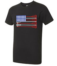 Lacrosse Stick Flag American Apparel Gift for fans players Aa T-shirt - 2134C