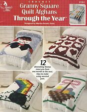 Granny Square Quilt Afghans through the Year, Annie's Crochet Pattern 872851 HTF