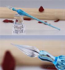 Glass Signature Pen Ink Dip Pen Vintage Style Pen Handmade Sense Gifts