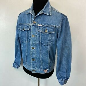 Vintage 1980s Guess Denim Jacket size L Georges Marciano Made in USA Trucker CJ2