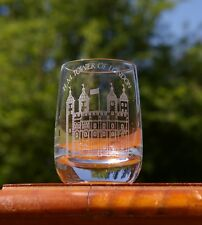 """H. M. Tower of London 2 3/8"""" Tall Etched Shot Glass"""