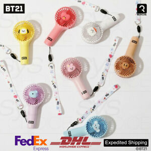 BTS BT21 Official Goods Fan Air Cooler Mini Operated Handheld Baby Ver + Express