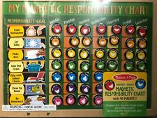Melissa and Doug Deluxe Wooden Hinged Magnetic Responsibility Chart 90 Magnets