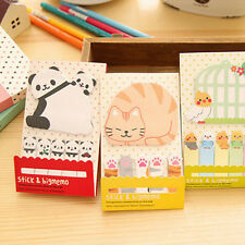 2018 Korean Japan office style Animal pattern cute sticky notes cat panda Bird
