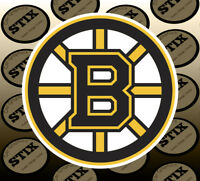 Boston Bruins Logo NHL Color Die Cut Vinyl Sticker Car Window Hood Bumper Decal
