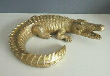 Crocodile Statue - Gold Tone - Ornament