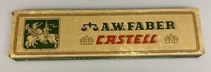 Vintage A.W. Faber Castell 9000 F Pencils Germany 9 New Unused