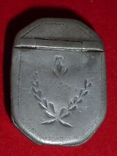 Rare Antique Georgian Engraved Pewter Snuff Box