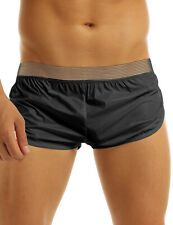 Mens See Through Shorts Bikini Lounge Trunks Quick Dry Underpants Swimwear M-XXL