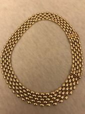 Vintage/antique K18 Yellow Gold Panther Link Necklace